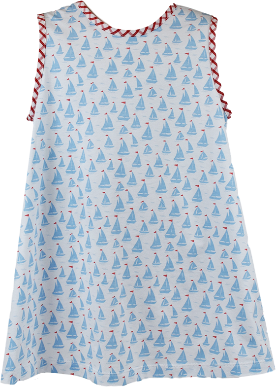 Ann Dress- Sailboat Print