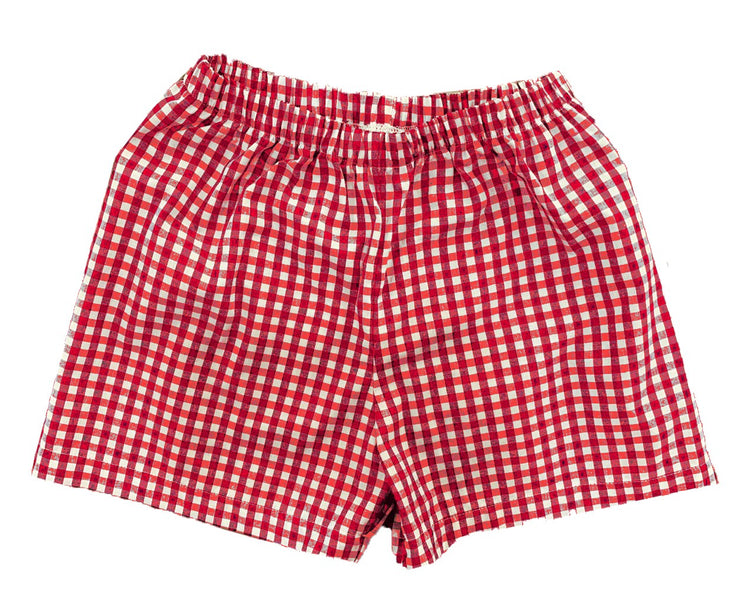 Sibley Short - Red Gingham - Cheer Proud