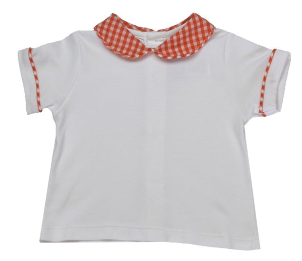 Sibley Shirt - White/Orange Gingham