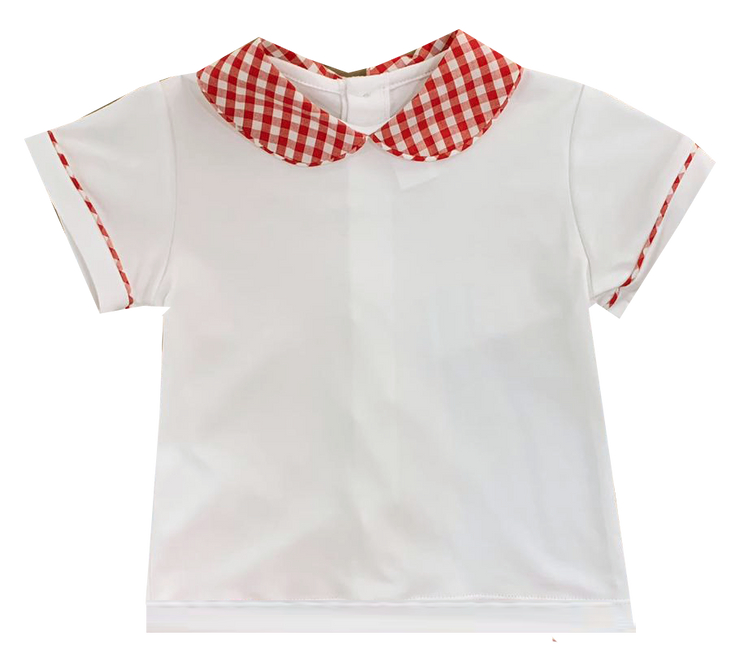 Sibley Shirt - White/Red Gingham - Valentine