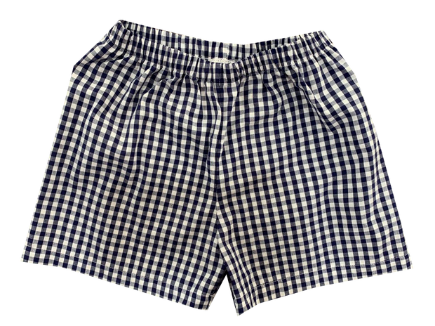 Sibley Short - Navy Gingham