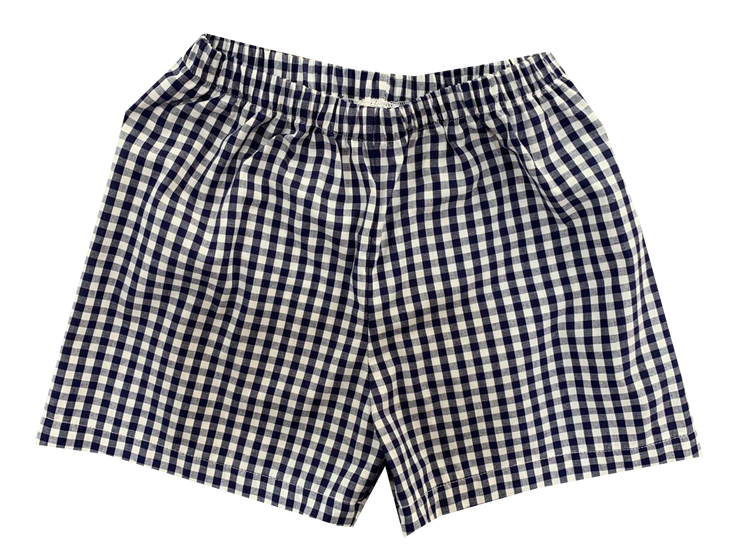 Sibley Short - Navy Gingham - Cheer Proud
