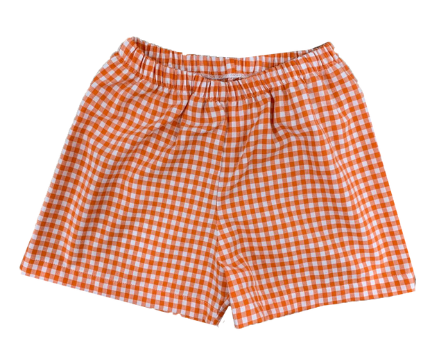 Sibley Short - Orange Gingham