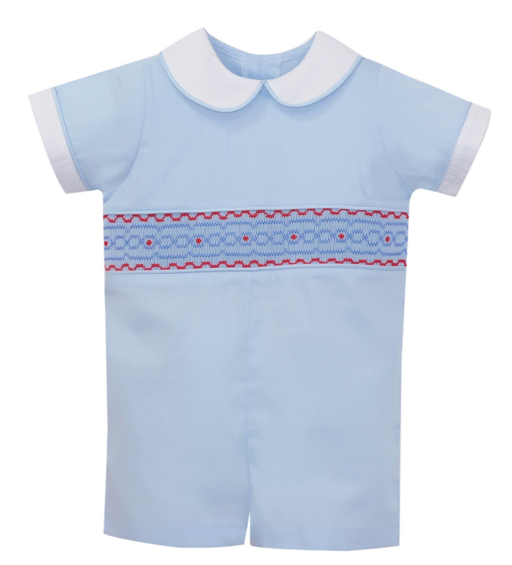 Stewart Shortall - Light blue / Blue Smocking