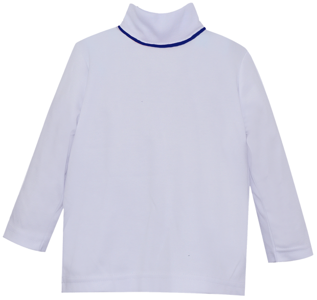 Tiny Tot Turtleneck - White/Navy - Countryside