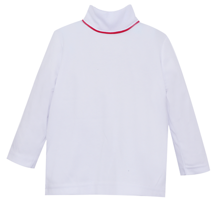 Tiny Tot Turtleneck - White/Red - City Life