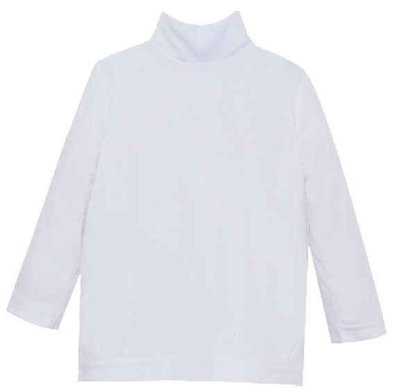 Tiny Tot Turtleneck - All White