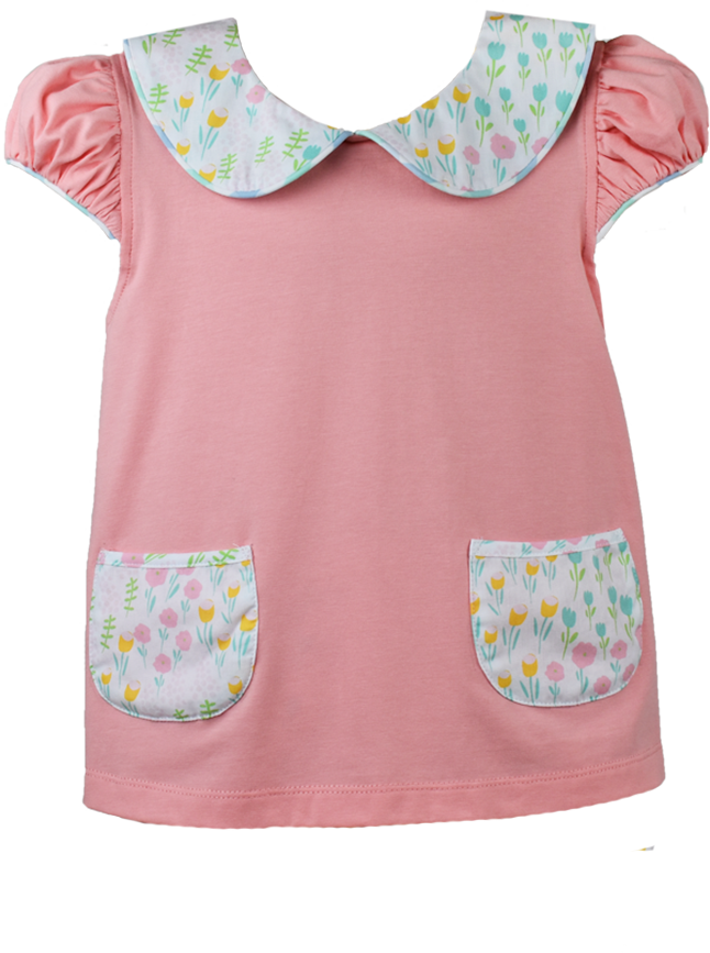 Blessings Blouse - Peach - Tip Toe Through The Tulips