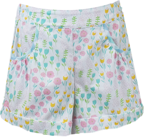 Bailey Short - Tulip Print
