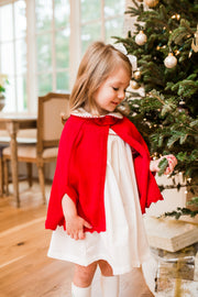 Royal Sweater Cape - Red