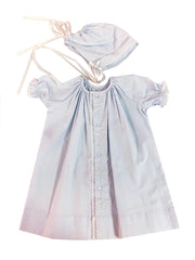 Vintage Daygown & Bonnet  - Blue