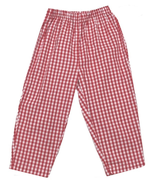 William Pant - Red Gingham - Cheer Proud