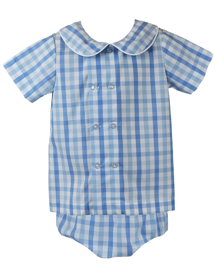 Arlington Diaper Set - Blue Plaid