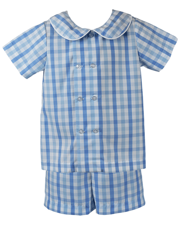 Arlington Short Set - Blue Plaid