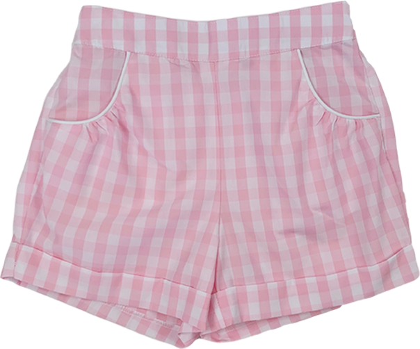 Bailey Short - Pink Plaid