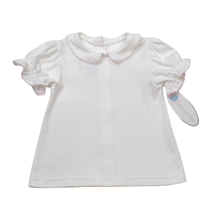 Better Together Blouse - White/Pink - Valentine