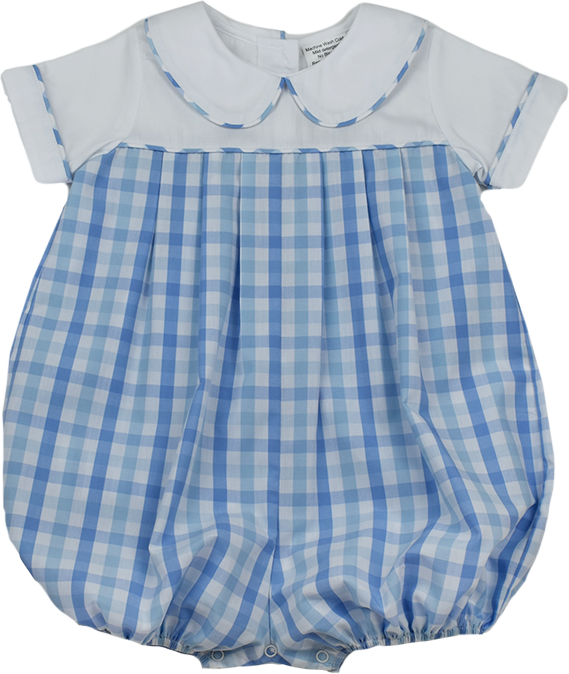 Precious Bubble - Blue Plaid