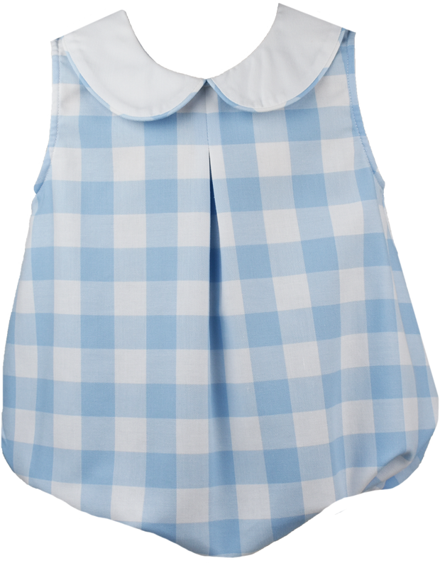 Collier Bubble - Large Blue Plaid