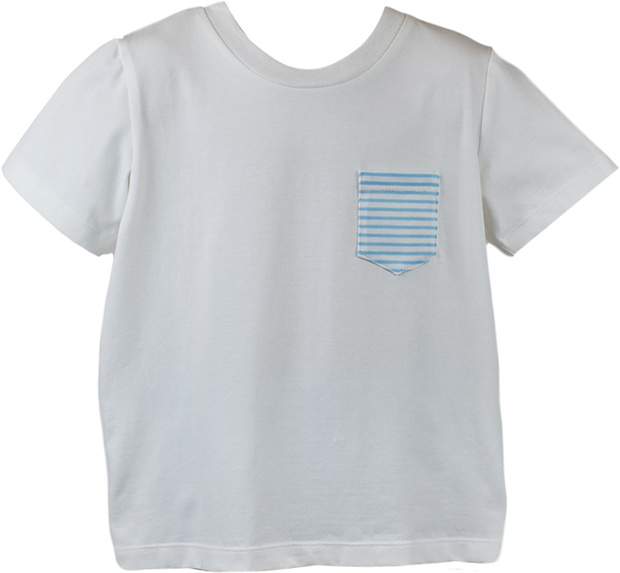 Charlie Shirt - White/Blue Stripe