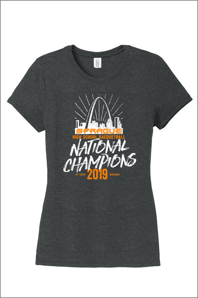 Sprague Racquetball National Champs Tri-Blend Tee (Womens)