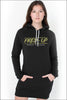 Fired-Up Pullover Raglan Hoodie Dress