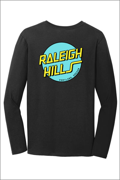 Raleigh Hills Retro Long Sleeve Tee Shirt (Womens)