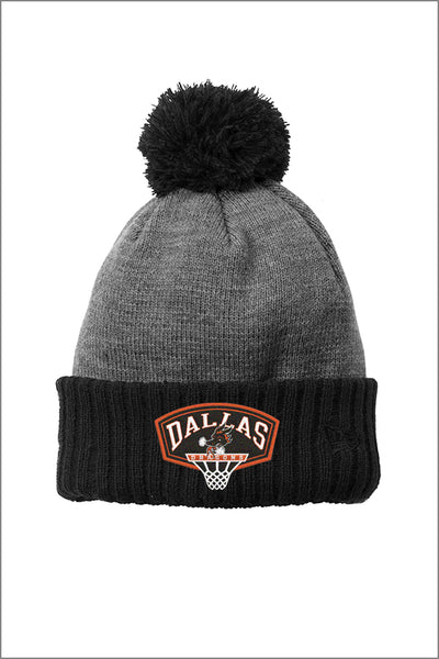 Dallas Basketball New Era Colorblock Cuffed Beanie