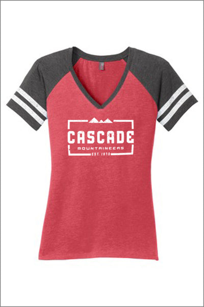 Cascade Game V-Neck Tee (Adult Womens)