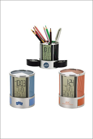 Desk Organizer with Multi Function Clock