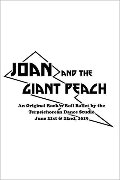 Terpsichorean Joan and the Giant Peach Shirt (Adult Unisex)