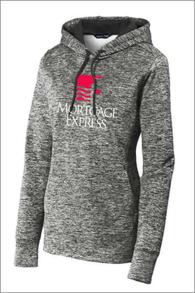 Mortgage Express PosiCharge Heather Fleece Hooded Pullover (Womens)