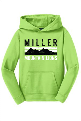 Miller Sport-Wick Fleece Hooded Pullover (Youth)
