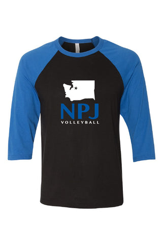 NPJ Seattle Baseball Tee (Adult Unisex)