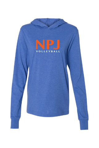 NPJ Volleyball Jersey Hooded Long Sleeve Tee (Adult Unisex)