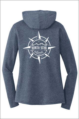 North Star Tri Long Sleeve Hoodie (Womens)