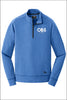 OBS New Era® Tri-Blend Fleece 1/4-Zip Pullover (Adult Unisex)