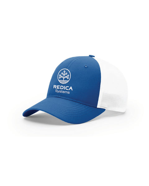 Royal/White Redica Trucker Hat (with Stretch)