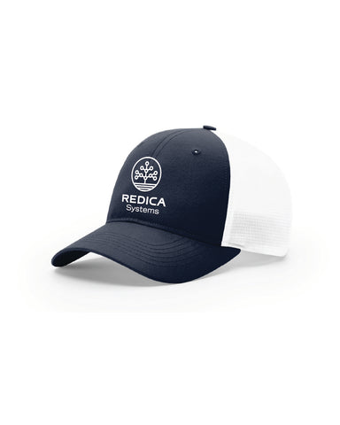 Navy/White Redica Trucker Hat (with Stretch)