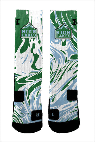 High Lakes Swirl Socks