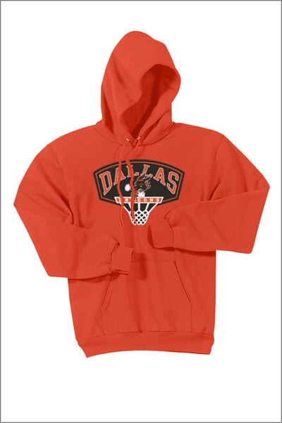 Dallas Basketball Fleece Pullover Hooded Sweatshirt (Adult Unisex)