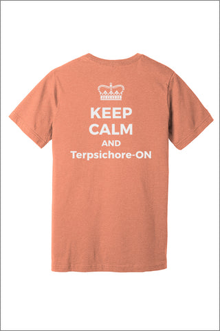 Terpsichorean Keep Calm Tee Shirt (Adult Unisex)