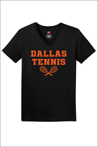 Dallas Tennis ComfortSoft V-Neck Tee (Womens)