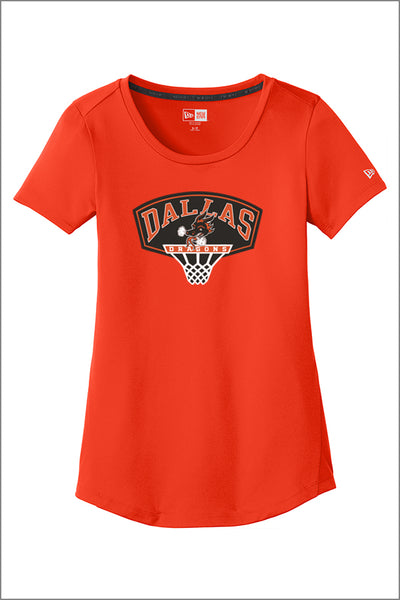 Dallas Basketball New Era Performance Scoop Tee (Womens)