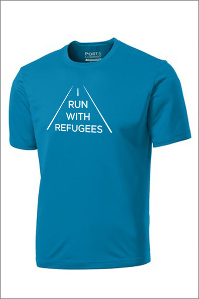 "World Relief ""I Run With Refugees"" Performance Tee (Adult Unisex)"
