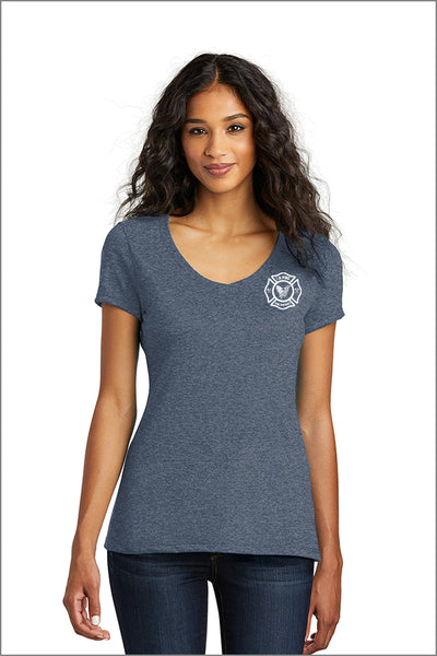 LaPine Fire District Tri Blend V-Neck Tee (Womens)