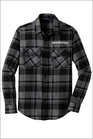 Ponderosa Plaid Flannel Shirt (Adult Unisex)