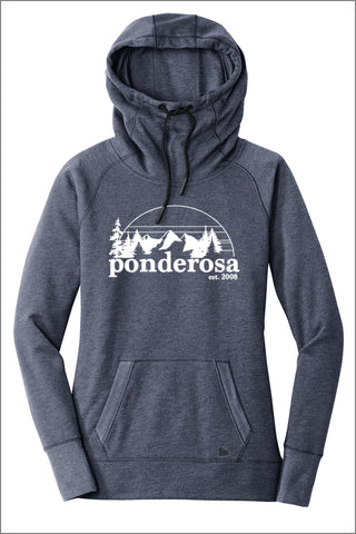 Ponderosa New Era Tri-Blend Fleece Pullover Hoodie (Womens)