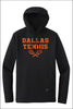 Dallas Tennis New Era Tri-Blend Performance Pullover Hoodie Tee (Adult Unisex)