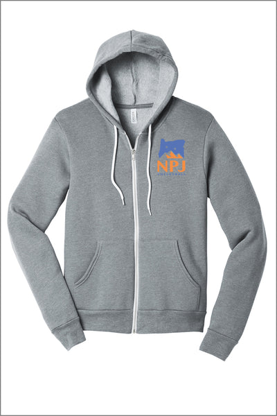 NPJ Logo Sponge Fleece Full-Zip Hoodie (Adult Unisex)