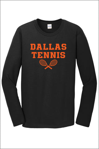Dallas Tennis 100% Cotton Long Sleeve T-Shirt (Adult Unisex)